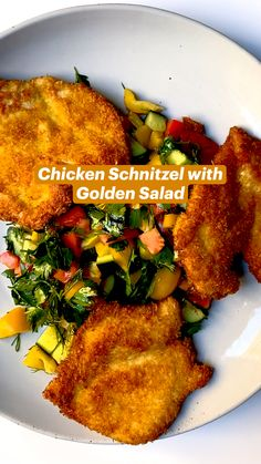 Meat Recipes, Chicken Recipes, Dinner Recipes, Cooking Recipes, Healthy Recipes, Chicken Schnitzel, Good Food, Yummy Food, So Little Time