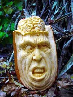 It's Written on the Wall: (Ray Villafane) AMAZING Pumpkin Carvings for Halloween-Works of Art Awesome Pumpkin Carvings, Pumpkin Carving Party, Pumpkin Art, Pumpkin Faces, Pumpkin Head, Scary Pumpkin, Pumpkin Crafts, Halloween Words, Halloween Jack