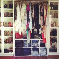 when i move i am making my closet like this. idc how small the place is, it will work!