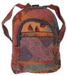 Vintage Embroidered Backpack