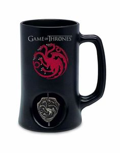 f40b0aa7 Game of Thrones Targaryen Stein w/ Rotating Emblem Game Of Thrones Houses,  Color Negra