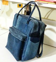 Love this upcycled denim bag!