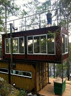 Ideias: Casas e construções feitas com containers | Constru-Básico – Sua casa em um blog.
