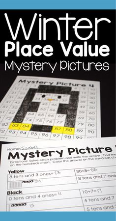 I love using these place value color by number 100s chart puzzles to help my students build place value skills. Students always look forward to seeing the mystery picture revealed. #placevalue #mathgames #100schart #colorbynumber #mysterypicture