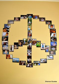 Peace and Rainbows Birthday Party peace sign photo collage