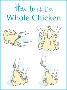 Helpful cooking tip: How to cut a whole chicken. It's much easier than you think, and can save you money!