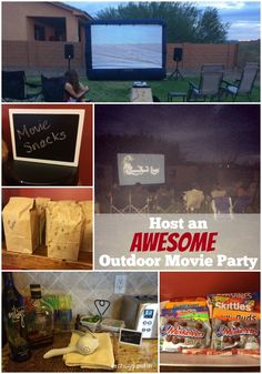 Host an outdoor movie party! They're great on long weekends, for tween and teen birthday parties, and for neighborhood parties! Birthday Party For Teens, Teen Birthday, 16th Birthday, Birthday Ideas, Happy Birthday, Fall Birthday, Birthday Recipes, Birthday Crafts, Outdoor Movie Party