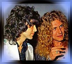 Believe it or not, this is a painting of the classic pic of Jimmy Page and Robert Plant!