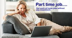 Get Part Time Job at Home without any Investment. Commission based #Job | Commission Depend on Product Sale For any Information Click on bit.ly/1orYqqV & Call at 0120-4282274