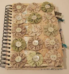 Buttoned yo yo journal 317 001