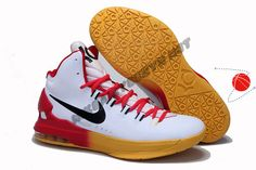 Cheap Buy Red Yellow Gradient Nike KD V Festive Price