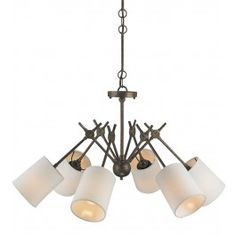 Currey & Company - 9510 - Compass 6 Light Chandelier with Cupertino Finish Lamps.com