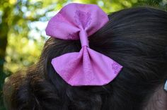 Pink print Fabric Hair Bow FREE shipping by TheSweetBeanBoutique, $6.00