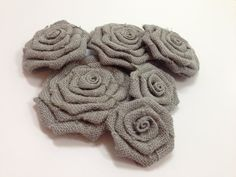 Hey, I found this really awesome Etsy listing at https://www.etsy.com/listing/114610227/six-graygrey-burlap-flowers