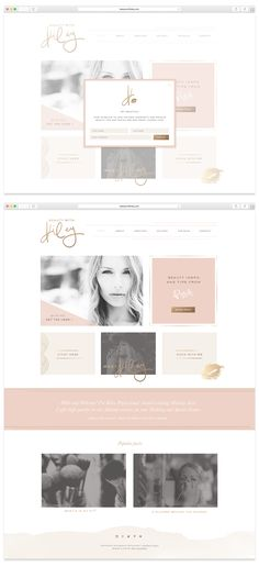 Custom Website by Mel Volkman Custom WordPress Website Design and Development Custom Blog Feminine Website and Blog Design Beauty Brand Beauty With Kiley Makeup Website Design
