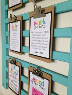 Respect, Responsibility, Right Choices DIY Chore & Behavior System with Free Printables! -- I love, love, love, LOVE so much about this!