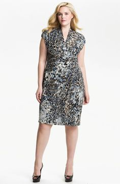 Suzi Chin for Maggy Boutique Print Surplice Sheath Dress (Plus) | Nordstrom
