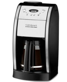 Cool beans. This coffee is so fresh and tasty because it can be brewed from beans ground just seconds before. Fully programmable with a sleek, European design, this 12-cup unit will feel right at home