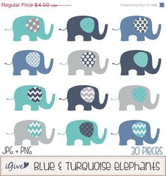 Items similar to ON SALE Baby Elephants Clip Art Set / Elephant Illustration / Printable Clip Art / Commercial / Modern Art / Children / Nursery Art on Etsy Baby Elephant Images, Cool Baby Girl Names, Make Your Own Invitations, Boy Diaper Bags, Elephant Illustration, Baby Shower Invitaciones, Baby Girl Crochet, Clipart, Art For Kids