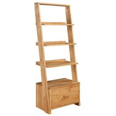 Debenhams Oak 'Fenton' open shelving unit with single drawer- | Debenhams