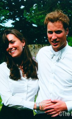 Prince William and Kate Middleton on their graudation day at St Andrew's University June 2005