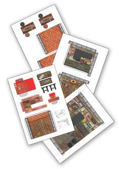 Toy Garage, Free Paper Models, Model Homes, Diy For Kids, Kids Toys, Dan, House, Dioramas, Childhood Toys