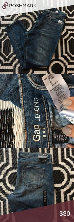 GAP Legging jeans with patchwork dye! Brand new never worn patchwork dye GAP denim legging style jeans! 16 Regular Length. All tags are still on. These adorable jeans are perfect for all seasons and add a little flare to any outfit! GAP Jeans Skinny