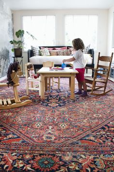 Kid play room. Love the rug and table. A Red House Legacy Way, Way West | Design*Sponge