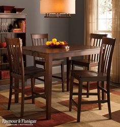 5Piece High Table And Chairs Dining Set Counter Height Eating Cool Counter Height Dining Room Design Inspiration