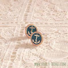 Anker Ohrstecker ♡ Anchor Earrings // www.lovely-things.com #lovelythingscom