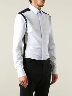 Bicolor Panelled Shirt