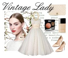 """Vintage Lady"" by bellabellashoppe ❤ liked on Polyvore featuring Chanel, Valentino and vintage"