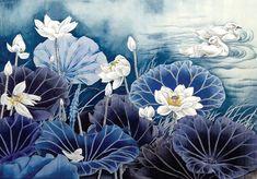 반갑습니다. 오늘 소개드릴 작품은 약사님이신 김복임 선생님의 작품으로, 선생님의 인품과 심성이 고스란... Lotus Painting, Lily Painting, Korean Painting, Chinese Painting, Lotus Art, Large Canvas Wall Art, Art Japonais, Mural Wall Art, Korean Art