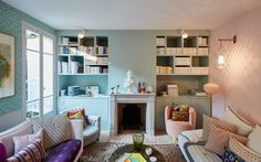 Book shelves - Miss Moss · Two apartments in Paris to make you jealous