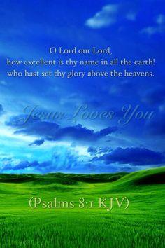 Psalm 8:1 KJV