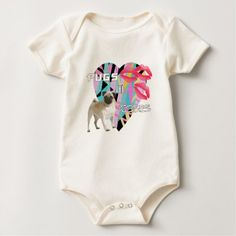 pugs and kisses baby bodysuit - valentines day gifts love couple diy personalize for her for him girlfriend boyfriend