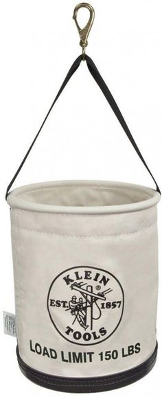 Klein Tools All Purpose Linemans Canvas Work Bucket Tool Transfer Storage Bag #KleinTools