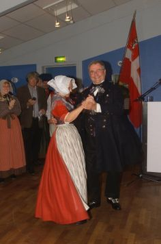 Danish Folk Dance...and that would be the Danish Prince Consort Henrik of Denmark swinging the lady.