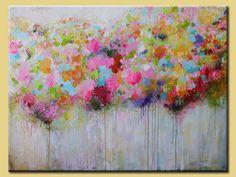 Gran colorido abstracto pintura Original acrílico por artbyoak1