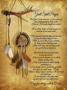 Native American Great spirit Prayer on parchment look background with watercolor effect dreamcatcher. Inspirational prose reflecting the philosophy of American Indian spirituality. & you always walk in beauty& Native American Prayers, Native American Cherokee, Dream Catcher Native American, Native American Symbols, Native American History, American Indians, Native American Crafts, Native American Zodiac, Dream Catcher Quotes