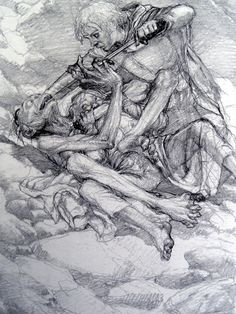 The Lord of the Rings Sketchbook - by Alan Lee (Sam, Frodo and Gollum)