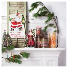 Decorate your home in a handmade, vintage style with the Nostalgic Holiday Decor Collection from Wondershop™. This nostalgic holiday themed decor collection features textures like distressed fabric, mercury glass and paper mache to create traditional style items with authentic materials. The classic Christmas colors of red and green are highlighted in this collection to create charming pieces with all the warmth of our childhood Christmases. Items in this collection include a classic...