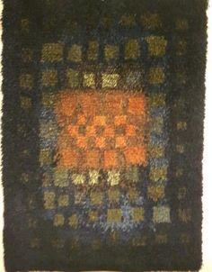 Ryijy, design Marjatta Metsovaara kotiin, mökille Rya Rug, Wool Rug, Floor Cloth, Floor Rugs, Rug Hooking Patterns, Quilt Patterns, Latch Hook Rugs, Hand Hooked Rugs, Tapestry Weaving