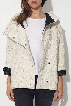 Cherokee Snow Hooded Short Coat