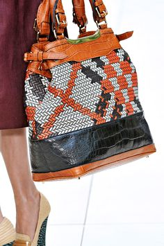 Burberry Spring 2012 - Pattern and textureLove the color and pattern