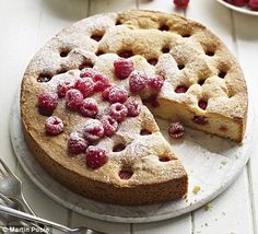 I've been baking this torte for the past 25 years: it never disappoints and it's so simple, requiring all the same weights of ingredients, a quick whisk and a pop into the oven. I'm forever grateful to my lovely friend Linda for this recipe. Gin Recipes, Lemon Recipes, Dessert Recipes, Desserts, Raspberry Torte, Raspberry Recipes, Torte Recipe, Smoking Recipes, Bread Cake