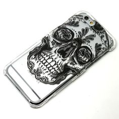 Black Sugar Skull Dia De Lose Muertos Henna Style Clear Case iPhone 6, 6 Plus, 5, 5C, 5S, Galaxy S4, S5,S6, Note 4