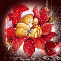 L'ours De Noël  ♥♣♥ ! . Merry Christmas, Xmas, Cute Bears, All Art, Scrapbook, Graphics, Holidays, Friends, Create