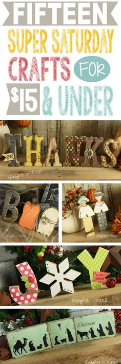 "SO many adorable wood sets you can buy unfinished to customize. Most under ""$10!"