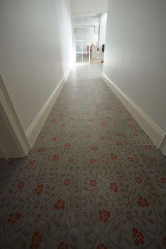 David&Goliath.eu Cement tile - Carreau en ciment: Roseline red 20x20